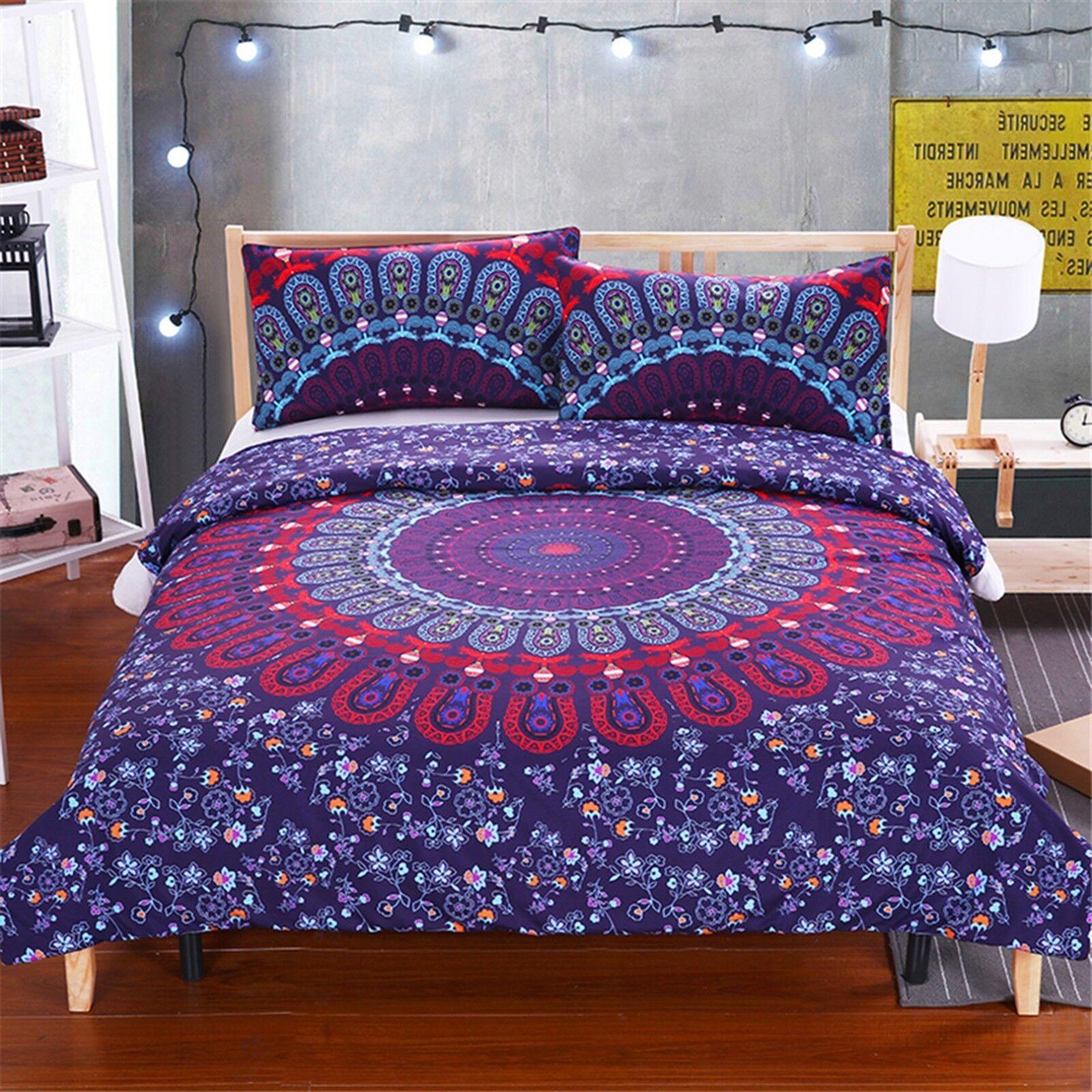3D Blau Pattern 472 Bed Pillowcases Quilt Duvet Cover Set Single Queen CA