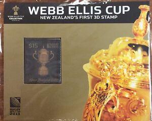 2011 NZ Webb Ellis cup $15 3 d stamp