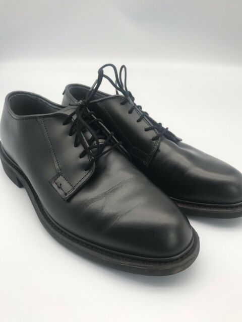 Black Shiny Lace Up Uniform Oxfords Dress Shoes Mens Size 10 E Vibram//Bates Sole