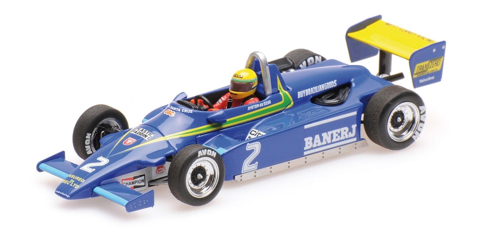 Ralt Jugueteota Rt3 Ayrton Senna 1St F3 Win Thruxton 1982 MINICHAMPS 1 43 547824302