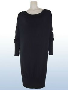 aniye-by-liu-jo-abito-vestito-dress-nero-donna-stretch-taglia-it-44-l-large