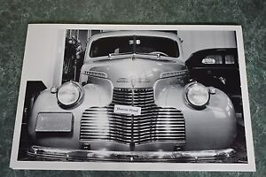 1940-Chevrolet-Master-85-Sedan-Front-View-12-X-18-034-Black-amp-White-Picture