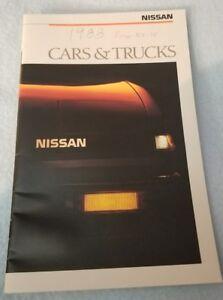 1988-NISSAN-Brochure-Pamphlet-SENTRA-PULSAR-MAXIMA-200SX-300ZX-PickUp-PATHFINDER