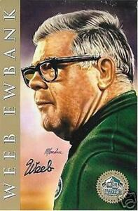 WEEB EWBANK NEW YORK JETS COLTS LIMITED EDITION  AUTOGRAPHED HOF SIGNATURE  CARD