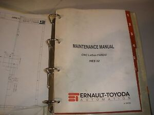 Details about Toyoda HES 52 CNC Lathe Maintenance Manual