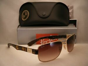 970f64079a0 Ray Ban 3522 Gold w Brown Gradient Lens NEW sunglasses (RB3522 001 ...