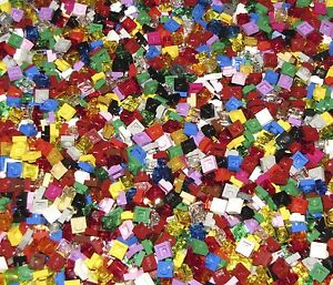 Lego 5 New Black Brick 1 x 1 Dot Building Blocks Pieces