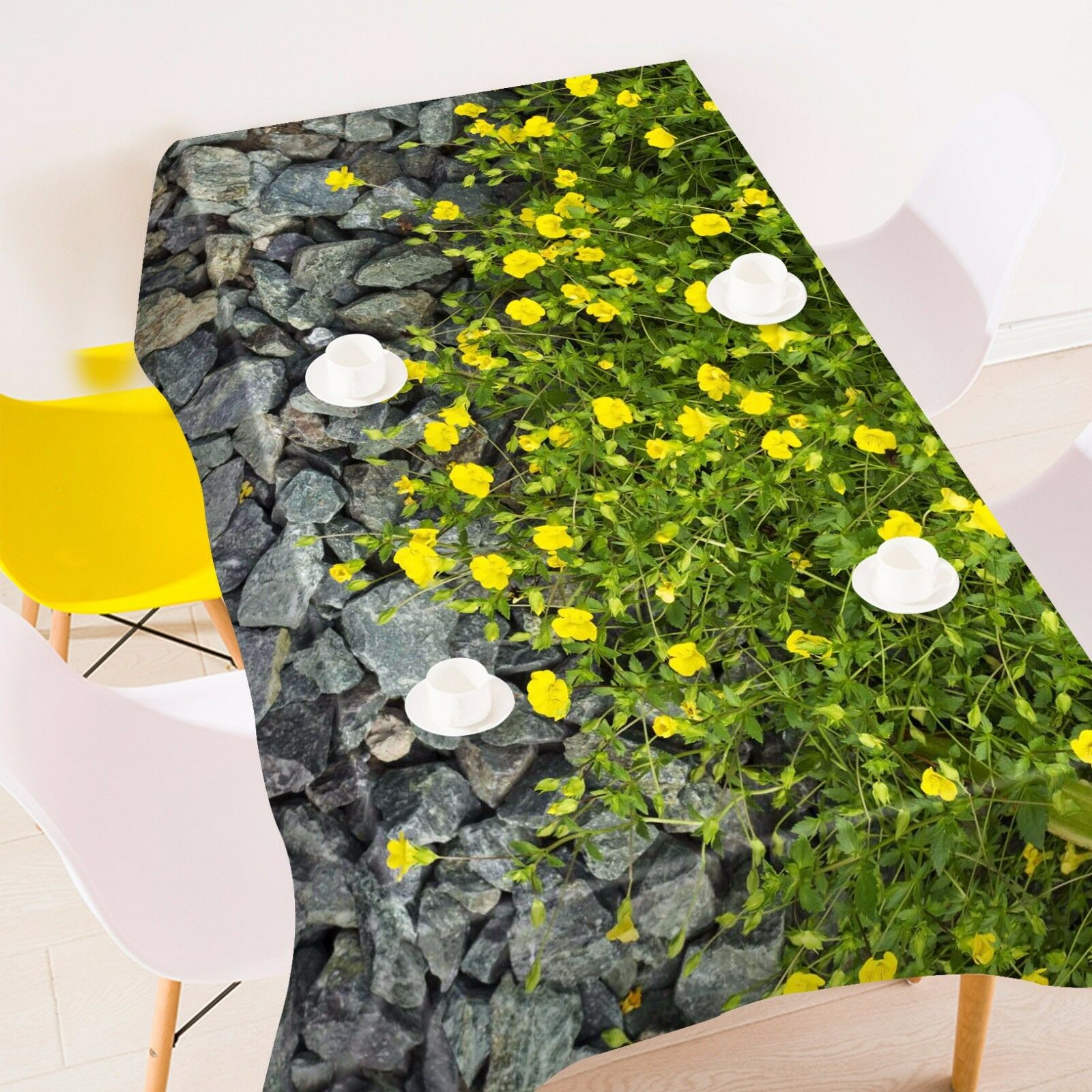 3D jaune Florals Tablecloth Table Cover Cloth Birthday Party Event AJ WALLPAPER