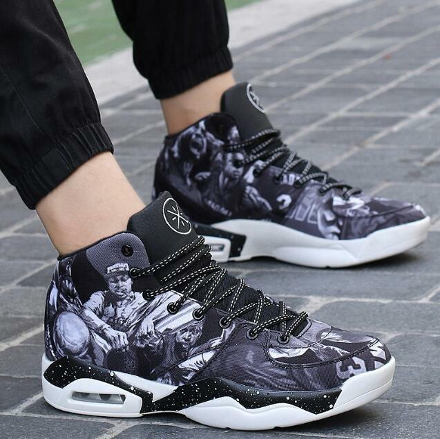 Mens High Top Fashion Sneakers Lace Up Flat Sports Basketball shoes Couple Sbox1