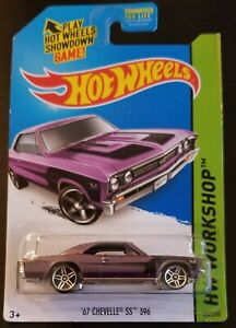 Custom Keychain Hot Wheels Red 67 Chevy Chevelle SS 396