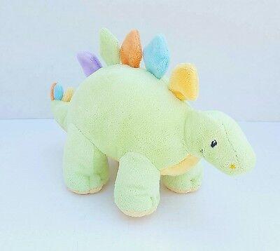 "Animal Adventure Dinosaur Stegosaurus Green 7"" Plush Stuffed Animal Baby Lovey"