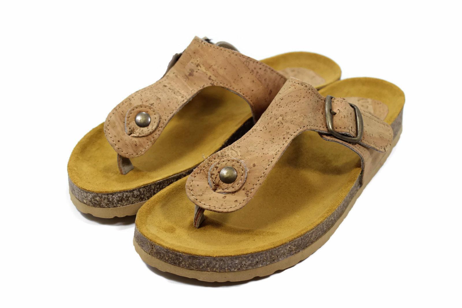 Women´s Cork flat slippers beach sandals flip flops lady girl genuine Portuguese