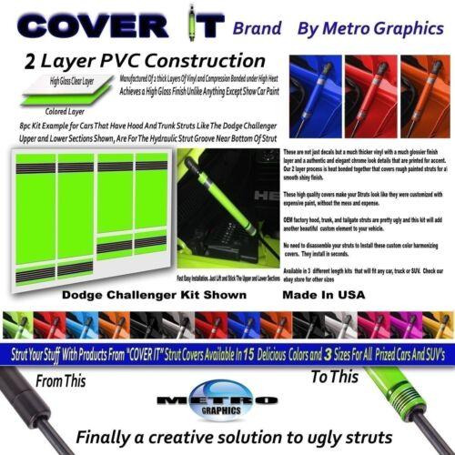 Trunk Strut Decal Sublime 8 pc kit fits Dodge Challenger Hood Strut Cover Decal