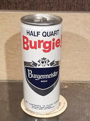 1974 16 Ounce Bottom Open Burgermeister Beer Can Hamms 2 City St Paul San Fran Ebay