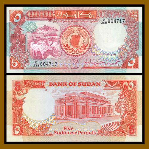 1991 P-45 Ankole Watusi Unc Sudan 5 Pounds