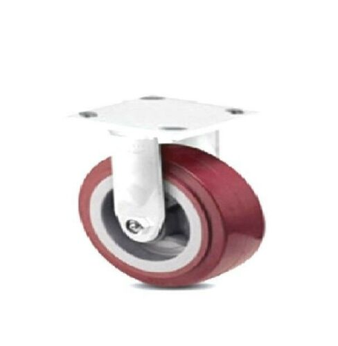 "One Colson Rigid Plate Caster with Maroon Polyurethane 4/"" x 2/"" Wheel 4-4108-929"
