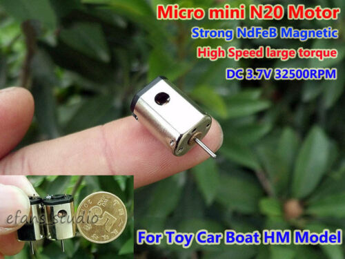 Mini N20 DC 3.7V 32500RPM High Speed Strong NdFeB Magnetic Motor RC HM Boat DIY