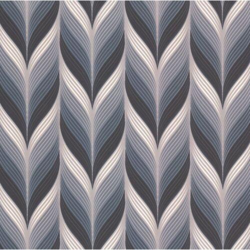 P/&S International Modern Non-Woven Geometric Embossed Feather Pattern Wallpaper