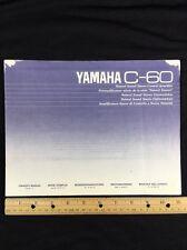 Yamaha C-60 Stereo Preamp Original Owners Manual Multi Languages c60