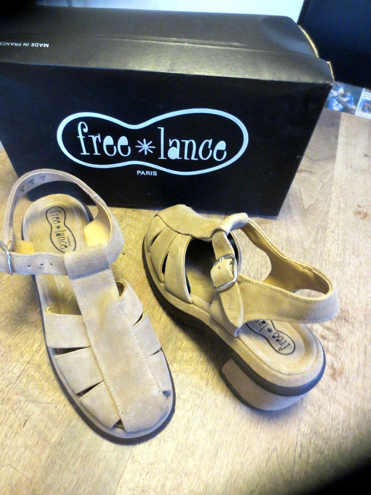 Free Lance Sandalia Vel natural natural natural nuevo talón 6 cm Tallas 35.5, 36.5  servicio considerado