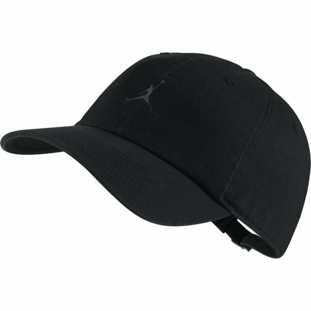 bdba4092dc5 Mens Nike Air Jordan Jumpman Heritage 86 Strapback Cap Hat Black ...