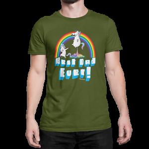 T-shirt Homme Meilleur Papa jamais Licorne Cadeau Fête Des Pères Pour Papa Anniversaire Drôle DAB