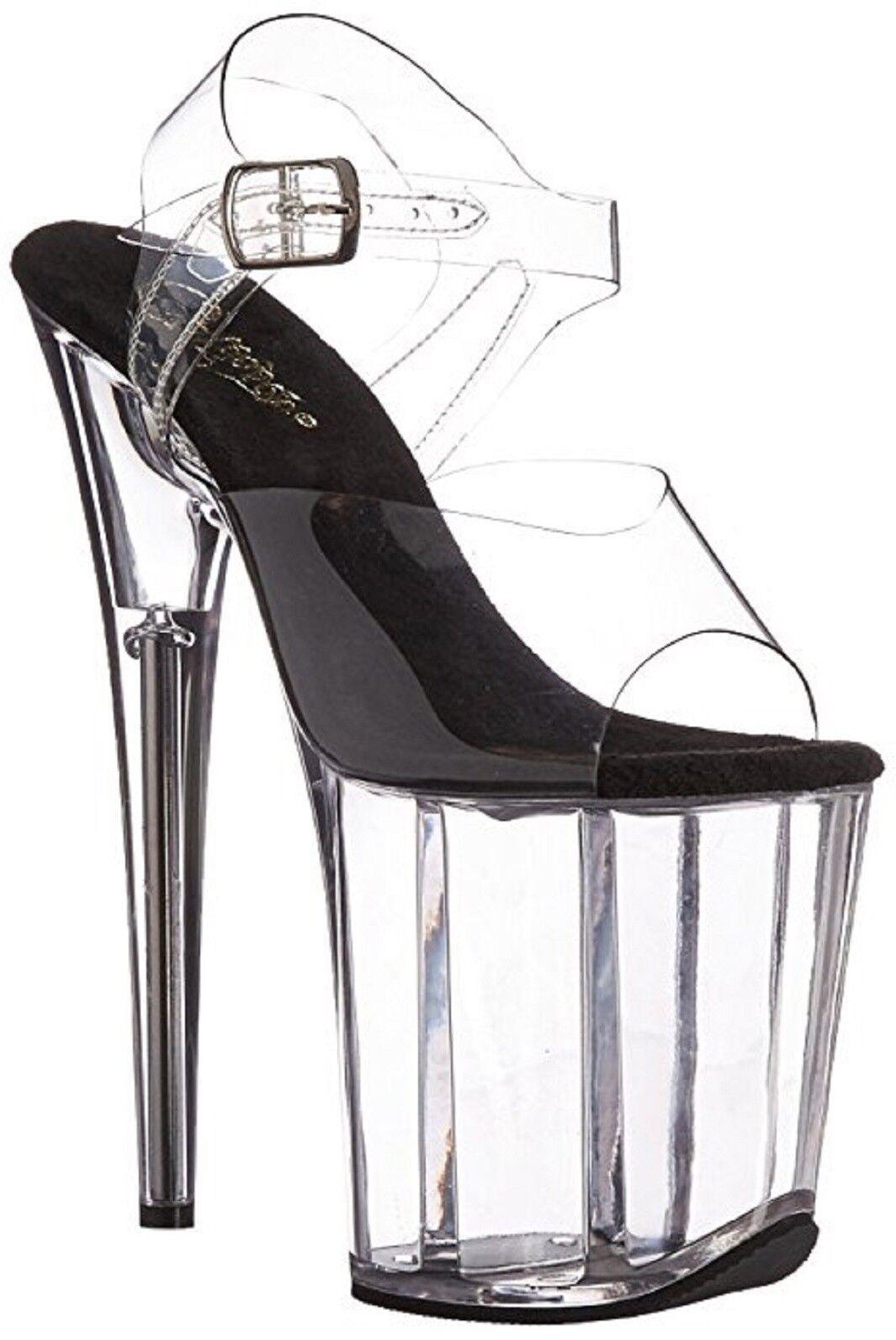 Pleaser Flamingo-808 Exotic Dancing Schuhes, Super High Heels 8