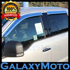15-16 Ford F150 Super Crew Crew Cab Chrome 4 Door Window Visor Rain Sun Guard