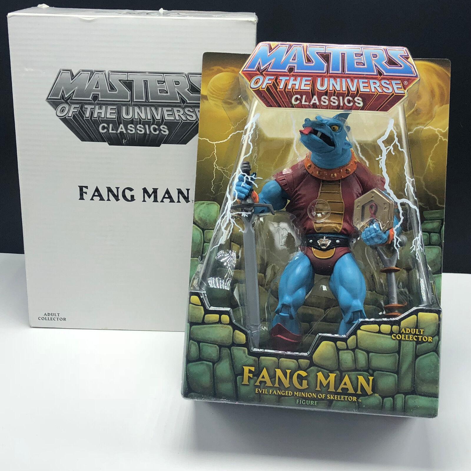 MASTERS OF UNIVERSE He-Man classics matty action figure moc mattel Fang Man box