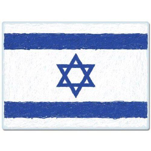 SELECT SIZE Israel Flag Scribble Design Car Vinyl Sticker