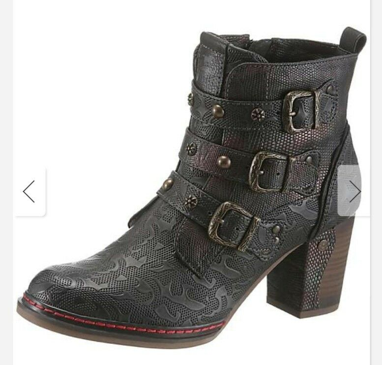 Mustang Womens Ankle Boots Brown Black Size Eu 37