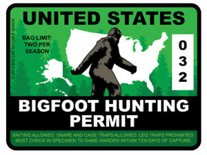 Bigfoot-Hunting-Permit-United-States-Bumper-Sticker