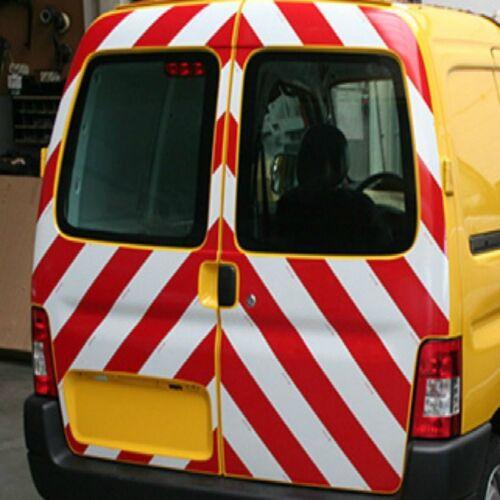 PANNELLO AUTOADESIVO RIFRANGENTE BIANCO//ROSSO mm 1240 x mm 1000