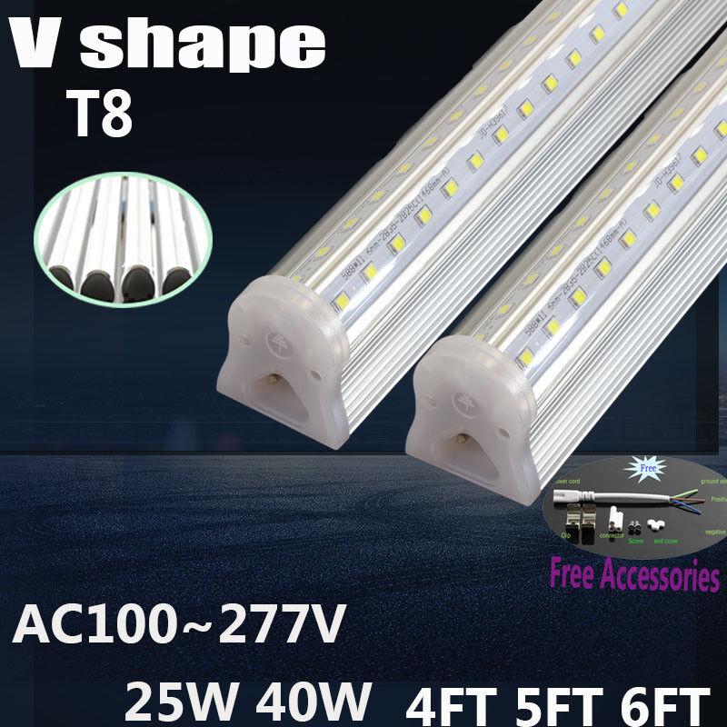 LED V shape 4FT T8 LED 120CM 25W  Integrated cooler Tube Light with 2line lamp