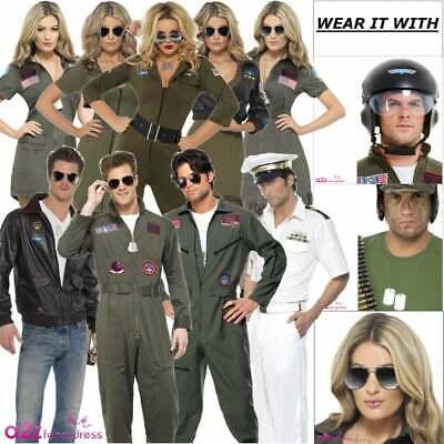 Top Gun Costumi Ufficiali Da Uomo Donna Pilota Aviatore Film Per Adulti 80s Costume-mostra Il Titolo Originale