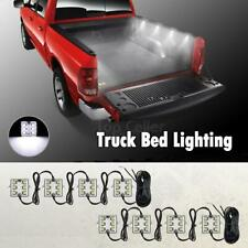 Partsam Truck Bed Light Strips 8pods 6-5050-smd White LED Work Box Lighting Kit
