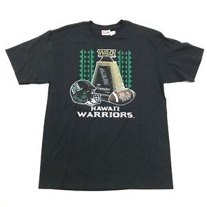 NEW Hawaii Rainbow Warriors Football Shirt Size Medium M Black 2007 CHAMPIONS