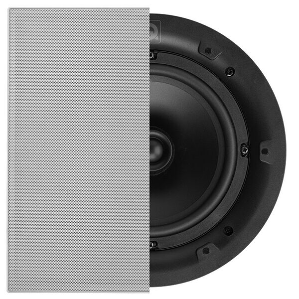 Single Q-Install QI65P Performance In-Ceiling Acoustic Speaker Square Grill
