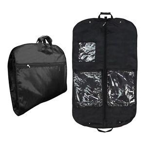 Hangerworld-44-034-Strong-Black-Nylon-Garment-Travel-Cover-Clothes-Suit-Carry-Bag