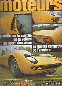 Moteurs 66 1968 Lamborghini Miura P400 Alfa Romeo Giulia 1300 Ti 24h Daytona