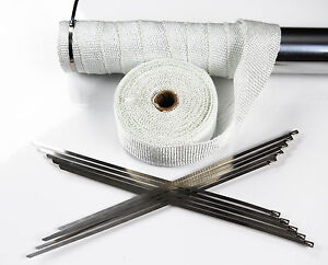 10M-WHITE-CERAMIC-FIBER-HEAT-WRAP-EXHAUST-MANIFOLD-WITH-10-CABLE-TIES-30cm