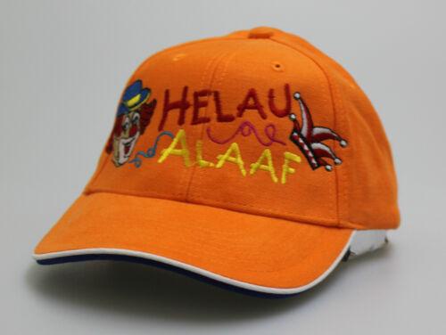 Cap Karneval Kappe Clown Köln Bonn Düsseldorf Aachen Caps • HELAU ALAAF • orange