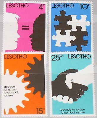 Ausdrucksvoll Lesotho 1977 241-44 Fight Against Racism White & Black Equal Gegen Rassismus Mnh Um Jeden Preis