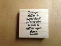 Mounted Rubber Stamps, Bible Verse, Children, Family, Christian Stamps, Verses