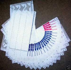 Pre Punch Card Pattern Set For Brother Singer Knitting ...