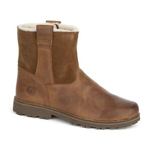 Details about Timberland Winter Boots with fur Ladies and Children Boots Braun Chestnut Ridge