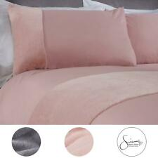 Sienna Faux Fur Teddy Panel Duvet Cover with Pillowcase Super Soft Bedding Set