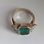 2-45Ct-Emerald-Cut-Green-Emerald-Antique-Vintage-Ring-14K-Yellow-Gold-Over thumbnail 5