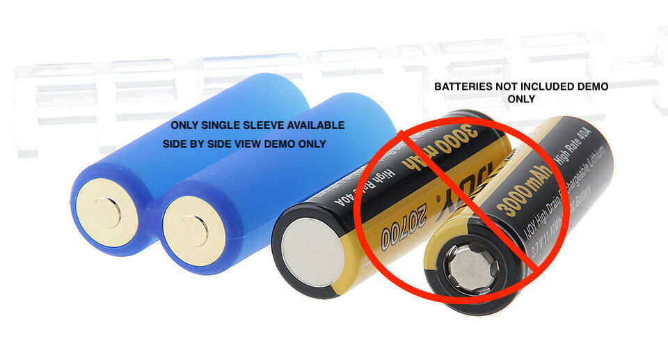 Battery Sleeves or Converters :: For 1865O to 2070O Compatibility