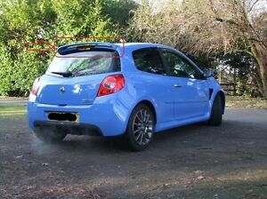 renault clio 3 sport look rear roof tailgate spoiler painted in primer ebay. Black Bedroom Furniture Sets. Home Design Ideas
